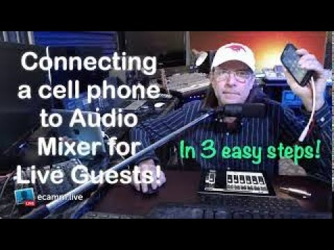Connect A Phone (iPhone, Android) To Your Show's Audio Mixer For Call In Guests!
