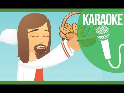 🎤. Karaoke 5 Pãezinhos e 2 Peixinhos - Turminha do Rei - Playback