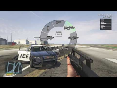 Grand Theft Auto V all guns in first person