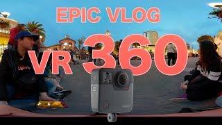 WARNER BROS PARK MADRID VR 360   GO PRO FUSION 5,2K 30P EPIC VLOG