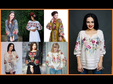 stylish ladies embroidered tops=decent shirts designs=casual clothing women