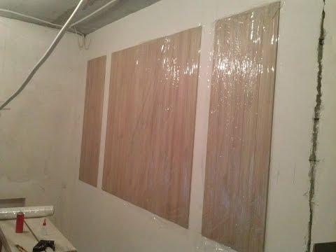 Как клеить ПВХ панели (декор на стену) ремонт