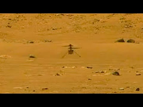 Mars Helicopter Ingenuity's first successful flight (video of lift off and landing)