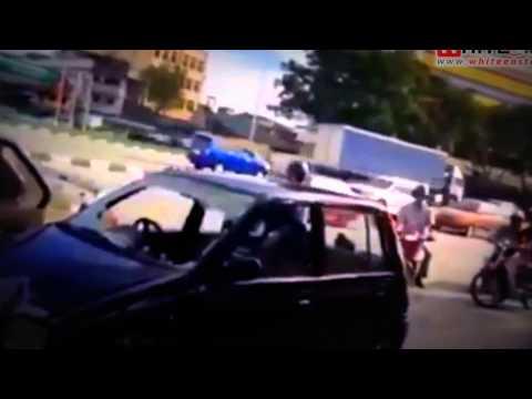 Car-Pedestrian Accident & Random Road Rage, Kepong - Malaysia Crime Focus 360
