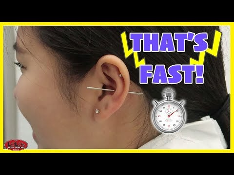 FASTEST PIERCING EVER!!