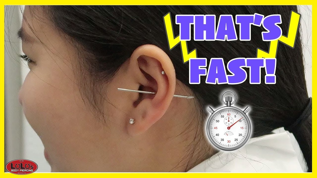 Fastest Piercing Ever Youtube
