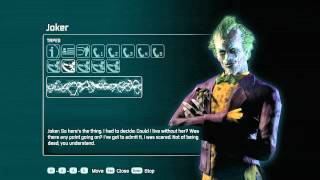"""""""Batman Arkham City"""", ALL Calls/Tapes for Joker (HD record)"""