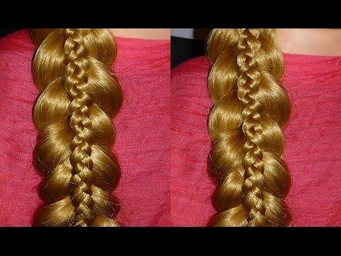 """Flechtfrisuren: Einfache """"Zopf im Zopf"""" Frisur zum selber machen.Braid Hairstyle.Peinados.Trenzas"""