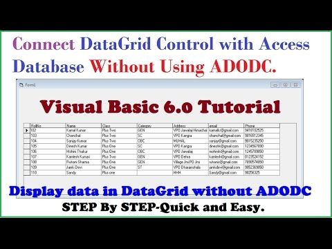 Computer Gyan: How to Connect Datagrid control with Access