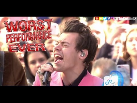 Harry Styles - WORST PERFORMANCE EVER - ( VOICE OVER ) Sign Of The Times - SHREDS