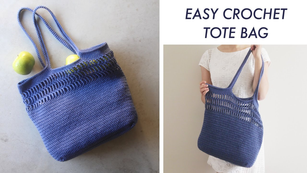 Easy Summer Crochet Tote Bag Diy Tutorial Youtube