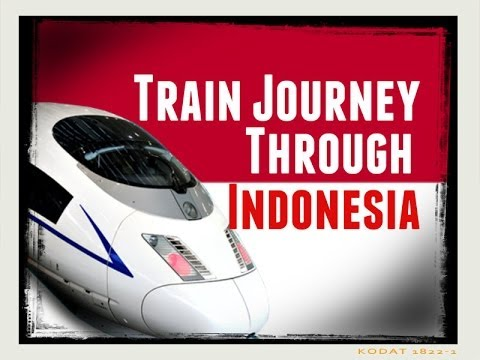 Indonesia Travel Documentary: Train Journey Across Indonesia, Beautiful Scenery in Jakarta.