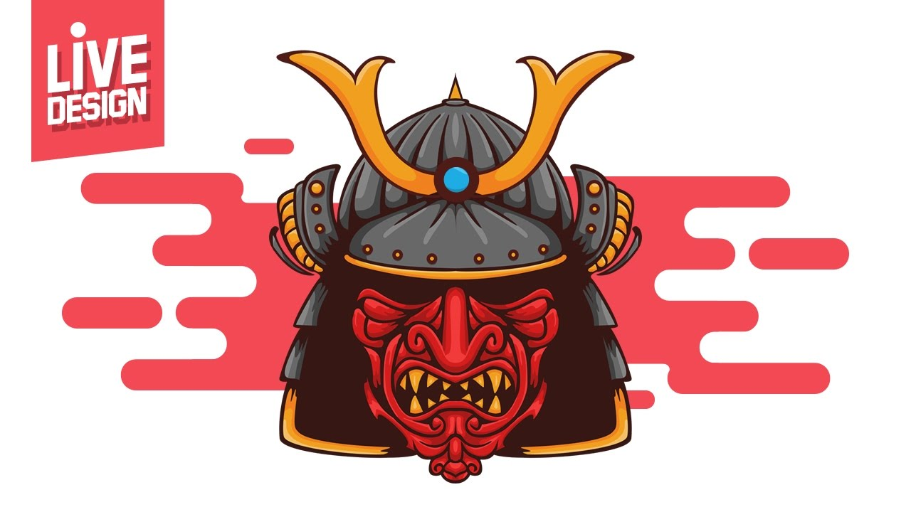 Live Design Photoshop Cara Desain Topeng Samurai Dengan Photoshop