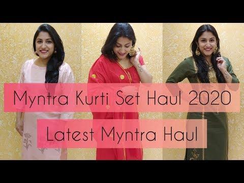 Myntra Haul 2020 | Affordable Myntra Kurti Set Haul 2020 | Latest Myntra Haul