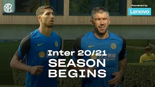 INTER'S 20/21 SEASON BEGINS | FIRST TRAINING SESSION (with ACHRAF HAKIMI and ALEKSANDAR KOLAROV) ⚫🔵