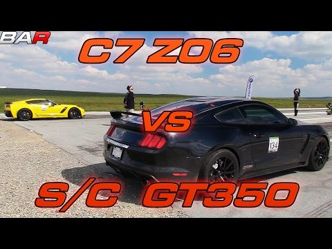 Procharged Shelby GT350 vs C7 Z06