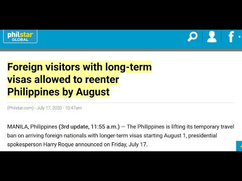 PHILIPPINES TO ALLOW FOREIGNERS W/LONG TERM VISAS