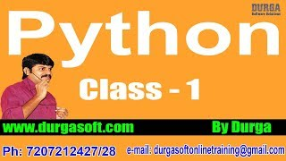 Learn Python Programming Tutorial Online Training by Durga Sir On 30-03-2018 @ 6PM