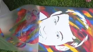 видео Флип арт портреты