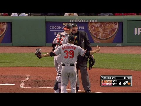 BAL@BOS: Gausman gets ejected for hitting Bogaerts