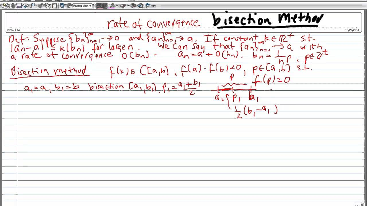 How to find the rate of convergence 96