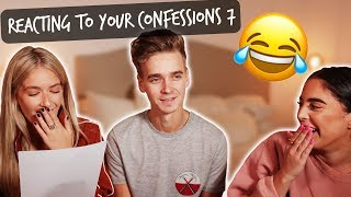 REACTING TO YOUR CONFESSIONS #7 ft. Sophia & Cinzia
