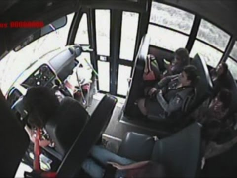 Raw: View Inside School Bus Crash in Rural Texas