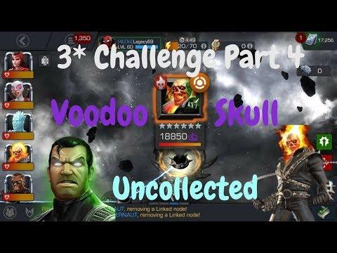 3* Uncollected Mode Challenge Part 4! VoodooSkull/FrankStrange - Marvel Contest Of Champions