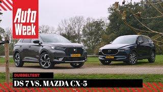 DS 7 Crossback vs. Mazda CX-5 - AutoWeek Dubbeltest - English subtitles