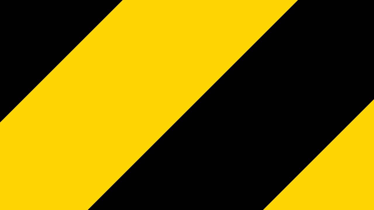 black and yellow stripes border