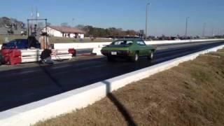 1972 pontiac GTO at silver dollar dragstrip