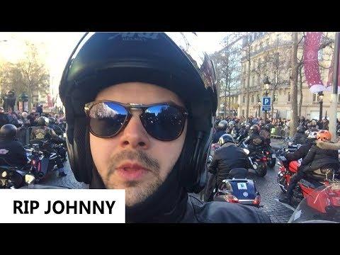 HOMMAGE À JOHNNY : RASSEMBLEMENT BIKERS CHAMPS ELYSEES