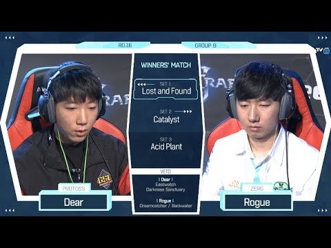 [2018 GSL Season 2] Code S Ro.16 Group B Match3 Dear vs Rogue
