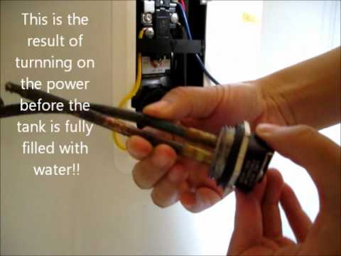 How to replace GE water heater heating element/Drain a Water Heater/Fill a water heater/