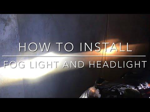 How to replace Isuzu Mux Foglight and Headlight