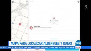 Agregan mapa para localizar albergues y rutas en la CDMX