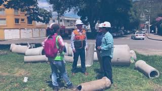 inspección con técnicos de la EMAPA-I, en la construcción del Colector Pluvial en la Victoria.