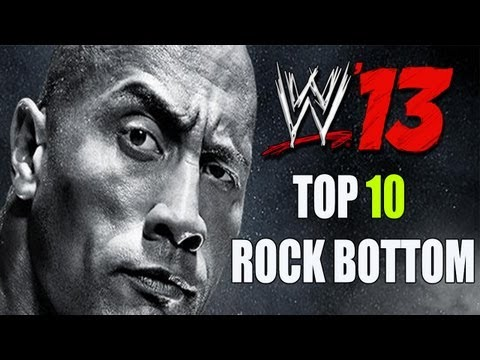 WWE '13 - Top 10 Ways Hit The Rock  Bottom!!
