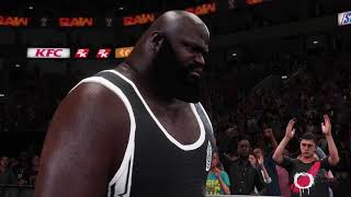 WWE2K18 March Week 1 Raw Match 3 Jinder Mahal vs Mark Henry