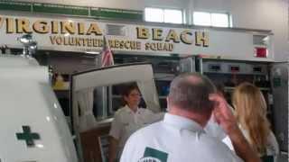United States Senator Mark Warner Visits With Virginia Beach EMS Volunteers
