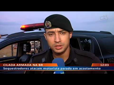 DF ALERTA - Sequestradores atacam motorista parado em acostamento