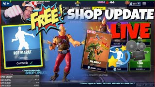 🆓MenamesCho's - ITEM SHOP UPDATE 🆕 HOT MARAT 🤙 FORTNITE BATTLE ROYALE - FREE EMOTE❗ FRI 23 11 18