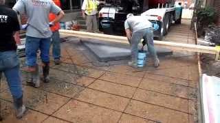 Процесс производства работ по устройству штампованного бетонного покрытия. (часть 2)(Процесс производства работ по устройству штампованного бетонного покрытия (часть 2) Штампованный бетон..., 2013-03-30T16:17:22.000Z)