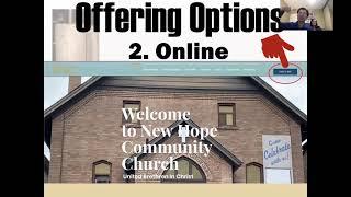 Online Worship, Sunday, Jan 17, 2021