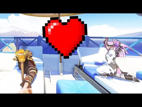 OVERWATCH 1V1 WITH MY GIRLFRIEND! (Will she beat me!?)