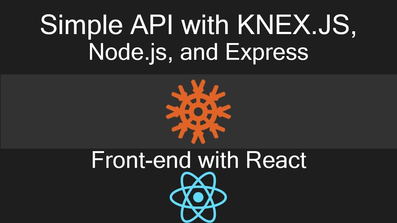 NodeJS Web API with KNEX and Express: First GET request