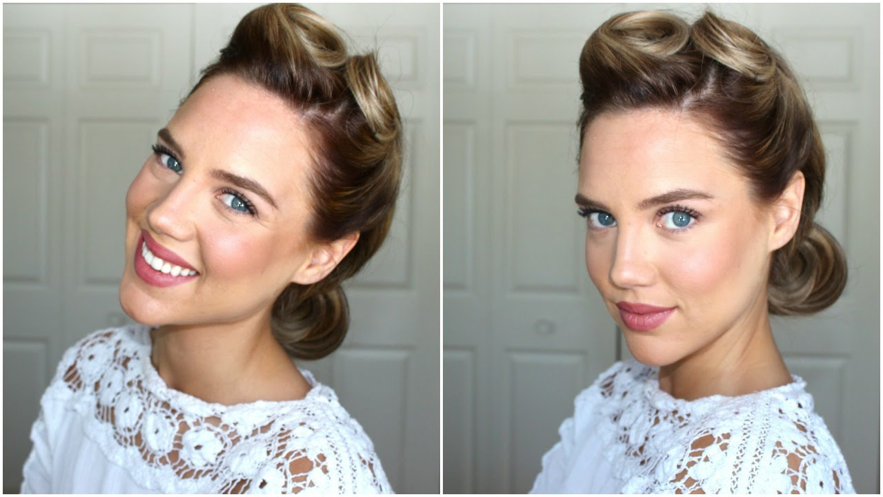 1940s hairstyle || victory rolls
