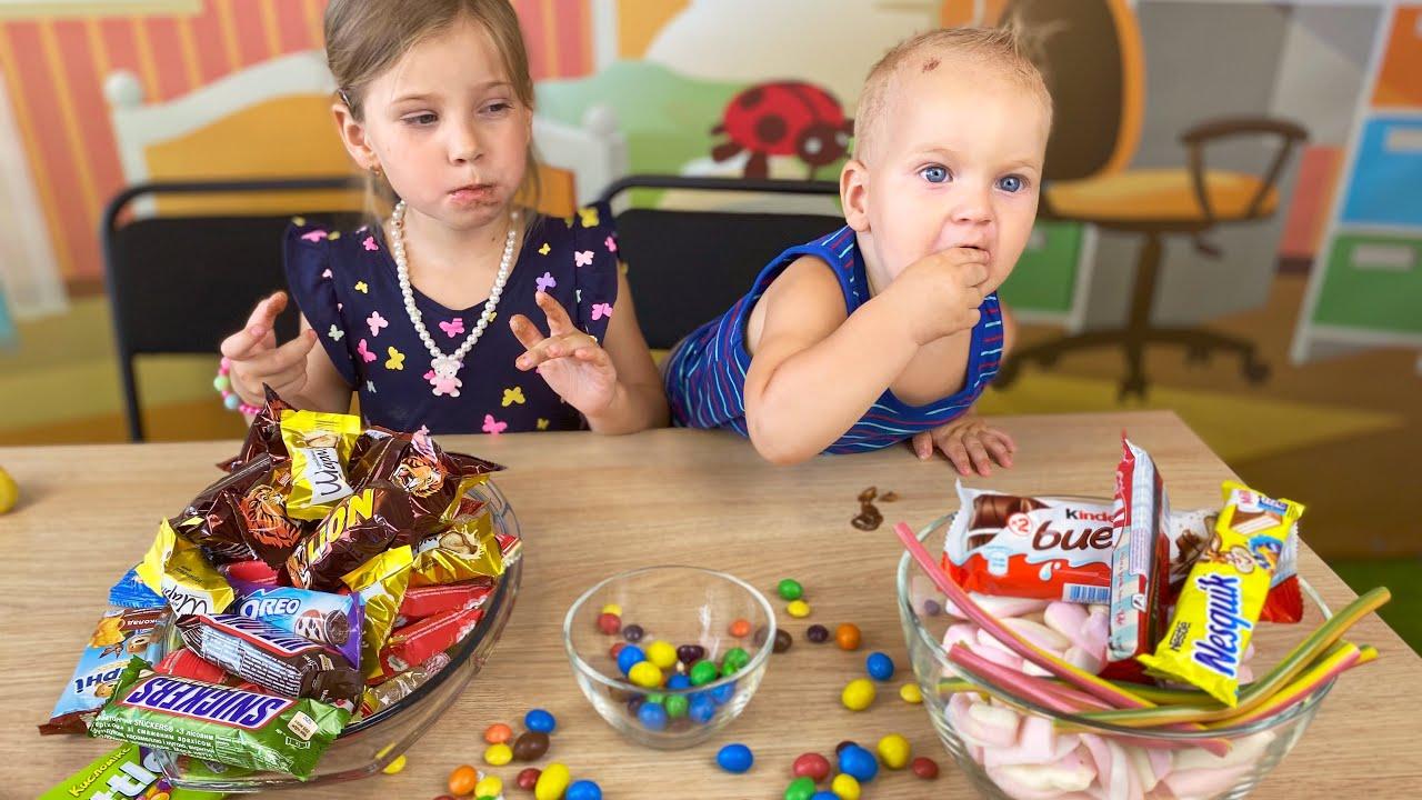 Челлендж для сладкоежек, дети и конфеты. Тест- сладости и сила воли -  YouTube