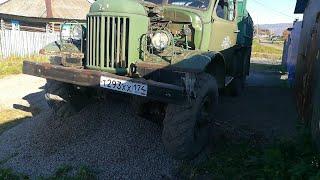 ЗИЛ 157. Ремонт стартера, подкачка колес, подготовка к зиме