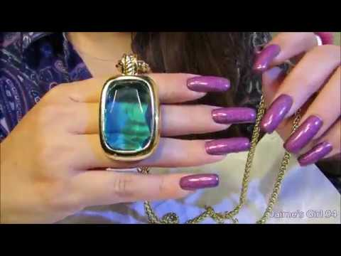 Relaxing Soft Whispers Jewelry Collection Show Case Long Nails ASMR